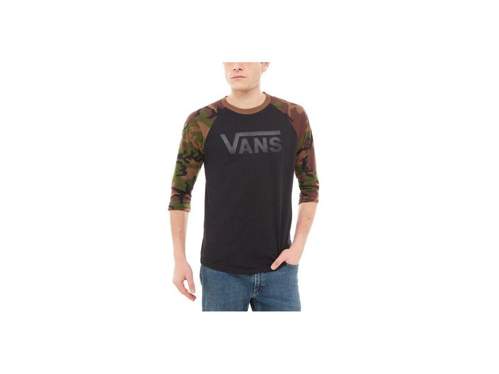 Tričko Vans VANS CLASSIC RAGLAN Black Camo - Tornadoshop.cz 5e4aa9265c