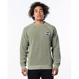 Svetr Rip Curl PATCHED SWEATER  Khaki