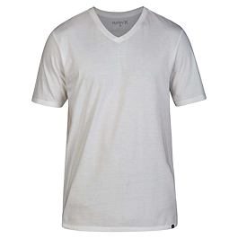 Tričko Hurley V-NECK S/S White/Black/Black