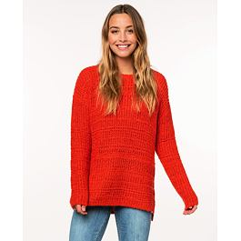 Svetr Rip Curl PEACEFUL SWEATER  Bright Red