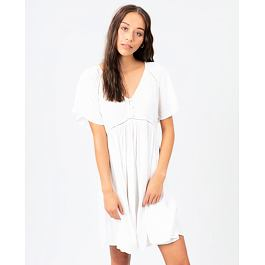 šaty Rip Curl IN YOUR DREAMS DRESS  White