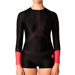 Lykra Ripcurl L/SL BOYLEG UV SURFSUIT  Black/Red