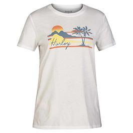 Tričko Hurley MELLOWIN PERFECT CREW White
