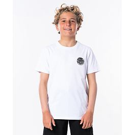 Tričko Rip Curl WETTIE BOY SS TEE  Optical White