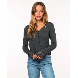 Svetr Rip Curl LIKELY LONG SLEEVE CARDI  Black Marled
