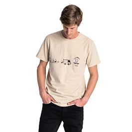 Tričko Rip Curl PICTOGRAMS S/S TEE  Cement Marle