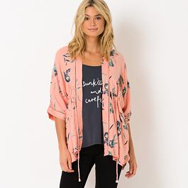 Kimono Animal KIMCHIE Sunset Pink