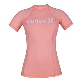 Lykra Hurley ONE & ONLY RASHGUARD S/S Pink Tint