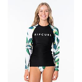 Lykra Rip Curl BLANCO BAY RELAXED L/SL  Black/White