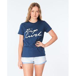 Tričko Rip Curl LOGO STANDARD TEE  Mid Blue