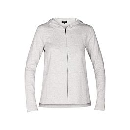 Mikina Hurley ONE & ONLY FLEECE ZIP Grey Heather