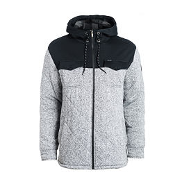 Mikina Ripcurl QUILTY ZT HOODED Beton Marle