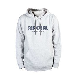 Mikina Rip Curl MAMASTRIPES HOODED FLEECE  Cement Marle