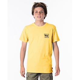 Tričko Rip Curl NATIVE GLITCH TEE-BOYS  Washed Yellow