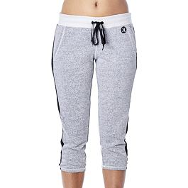 Tepláky Hurley DRI-FIT FLEECE CROP PANT Heather White