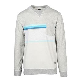 Mikina Rip Curl YARN DYED STRIPE CREW FLEECE  Cement Marle