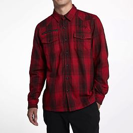 Košile Hurley KYOTO FLANNEL WOVEN L/S University Red