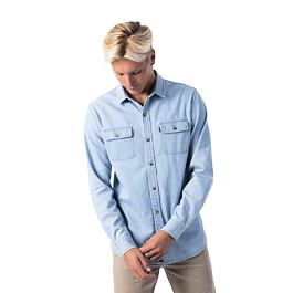 Košile Rip Curl SEARCHES DENIM L/S SHIRT  Light Blue