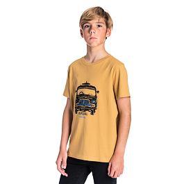 Tričko Rip Curl SUPER VAN BOY SS TEE  Mustard
