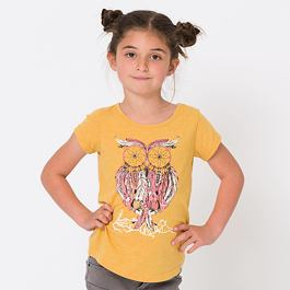 Tričko Animal DREAM OWL Golden Glow Yellow Marl