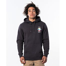Mikina Rip Curl SEARCH ICON HOOD  Washed Black