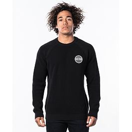 Svetr Rip Curl PATCHED SWEATER  Black