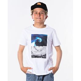 Tričko Rip Curl GOOD DAY SS TEE BOY  Optical White