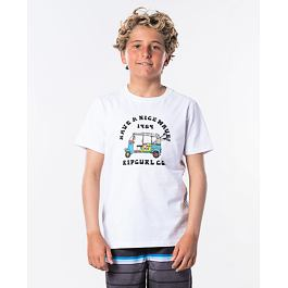 Tričko Rip Curl COCHE SS TEE BOY  Optical White