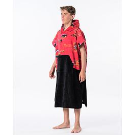Ručník Rip Curl HOPPER PONCHO BOY  Bright Red