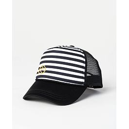 Kšiltovka Rip Curl ICONIC STRIPE TRUCKER  Black/White