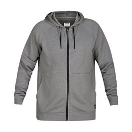 Mikina Hurley CRONE FULL ZIP Grey Heather