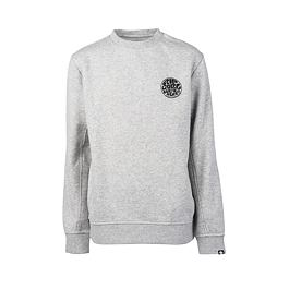 Mikina Rip Curl WETTIE CREW FLEECE BOY  Cement Marle