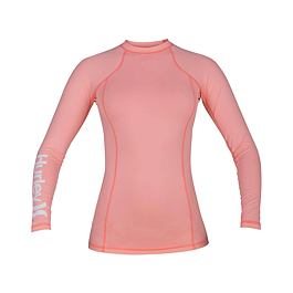 Lykra Hurley ONE & ONLY RASHGUARD L/S Pink Tint