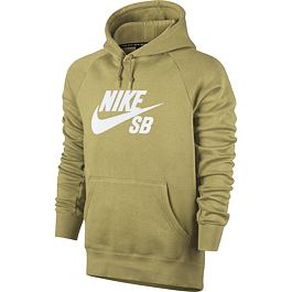 Mikina Nike SB ICON HOODIE Lemon Wash/White