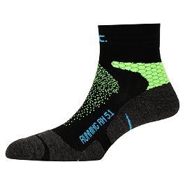 Ponožky PAC RN 5.1 RUNNING PRO SHORT Neon Green