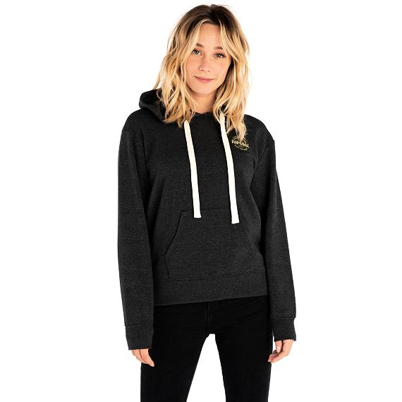 Mikina Rip Curl MADE FOR WAVES HOODED FLEECE  Black Marled