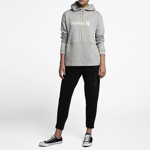 Mikina Hurley ONE & ONLY FLEECE PULLOVER Dk Grey Heather