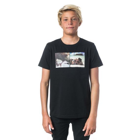 Tričko Rip Curl GOOD BOY SS TEE  Black