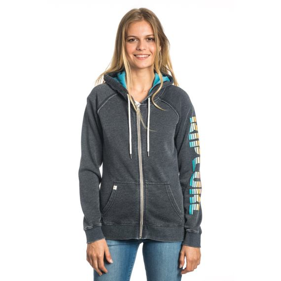 Mikina Ripcurl ACTIVE LOGO FLEECE Black