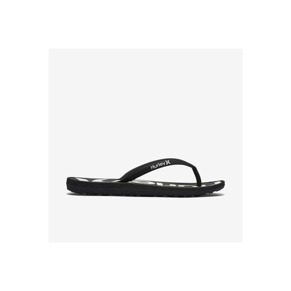 žabky Hurley ONE & ONLY PRINTED SANDAL Black