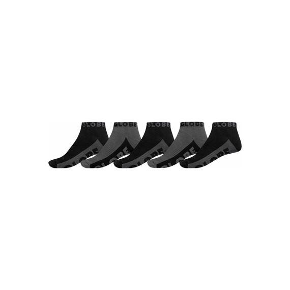 Ponožky Globe ANKLE SOCK 5PK Black/Grey